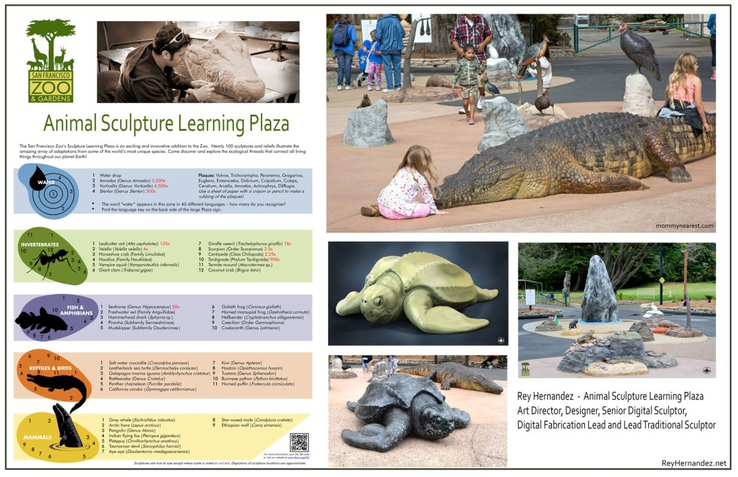 San_Francisco_Zoo_Animal_Sculpture_Learning_Plaza_Bronze_3D_printed_animals_Rey_Hernandez