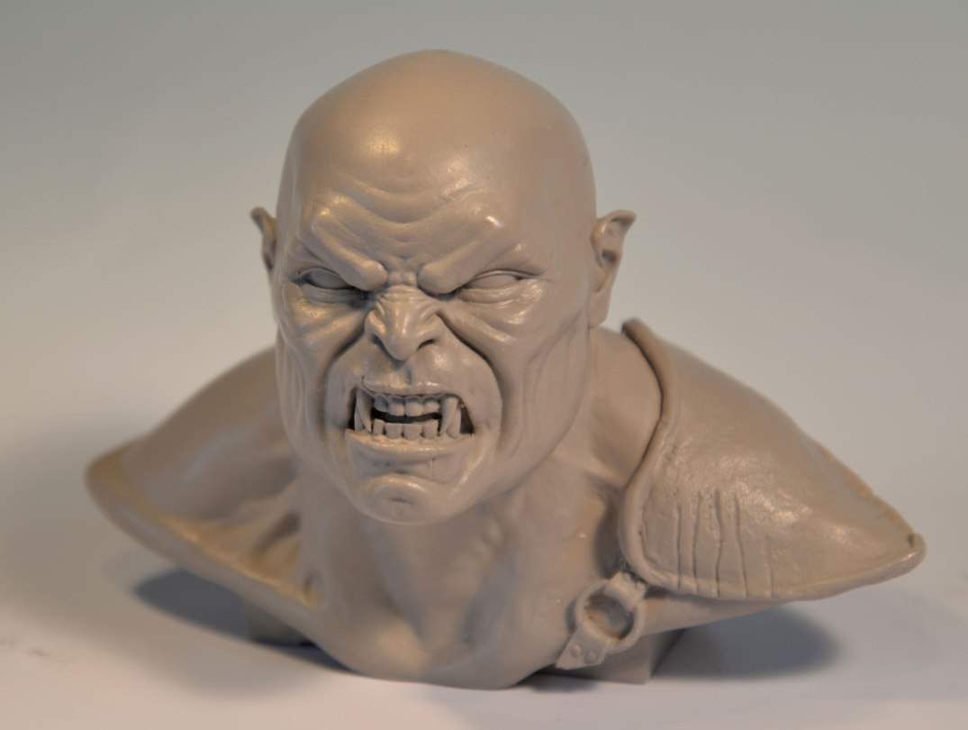 Orc - Resin cast of a 3D print